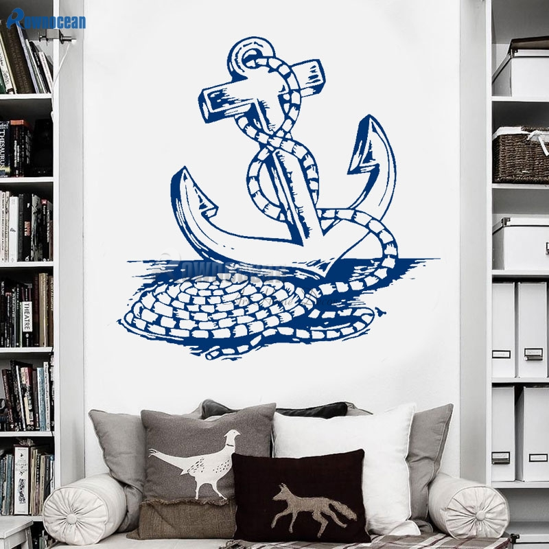 barcos piratas ancla pegatinas de pared de la sala de estar del dormitorio adhesivos decorativos cartel
