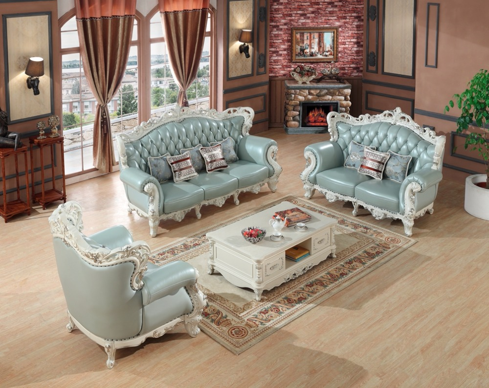 Sofa Set Price New Us 3333 6 Luxury European Leather Sofa Set Living Room Sofa China Wooden Frame Sectional Sofa 1 2 3 In Living Room Sofas From Furniture On