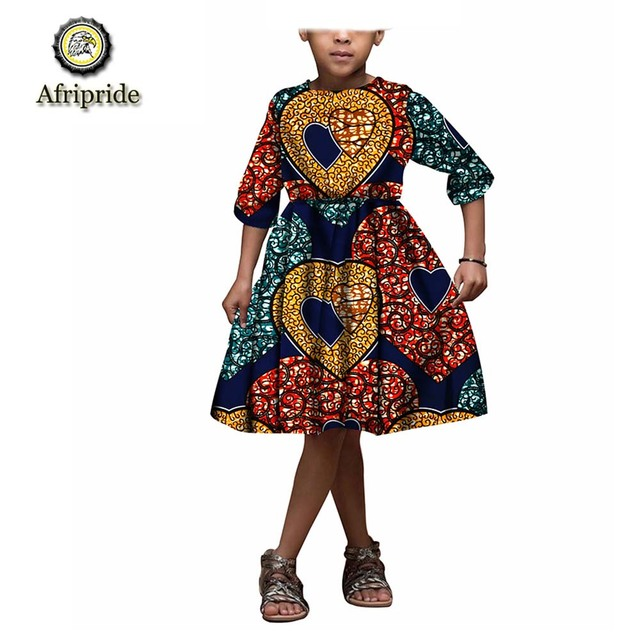89970b01858d 2018~2019 African kids dress Children clothing 100% cotton wax ankara print  fabric dashiki bazin riche AFRIPRIDE S1845004