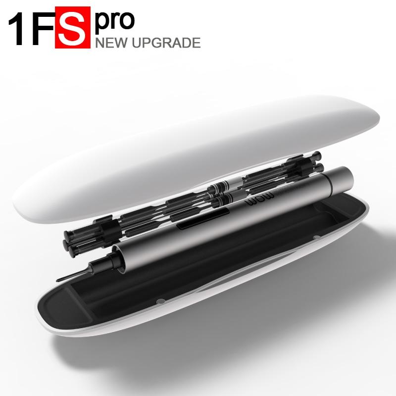 Wowstick 1FS pro 1 P + Precision mini cordless cacciavite elettrico con 2 batterie per iphone del telefono mobile Della Macchina Fotografica