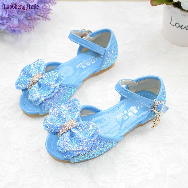 Nova verão meninas sandálias Princesa sapatos fundo macio das crianças das crianças arco sapatos sapatos de praia menina open-sandálias de dedo