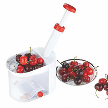 Novelty Cherry Pitter Machine Super Cherry Pitter Stone Remover Tool Creative Kitchen Corer Cherry olive Gadget With Container