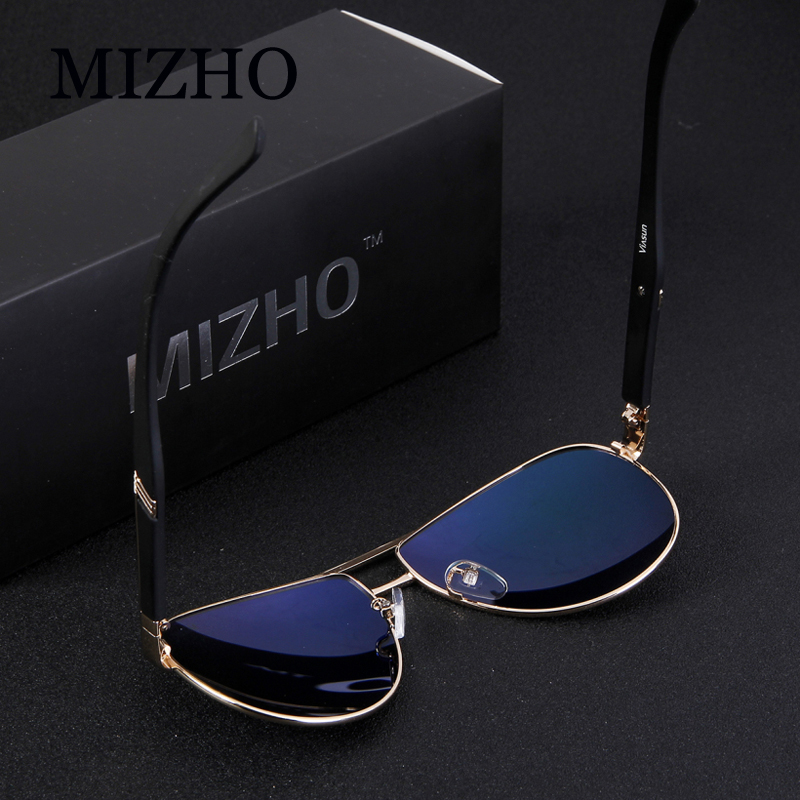 MIZHO Busines Mirror UV Protection Retro Sunglasses Men Polarized Driving Pilot Traveling Luxury Sunglass Women Brand Design in Men 39 s Sunglasses from Apparel Accessories