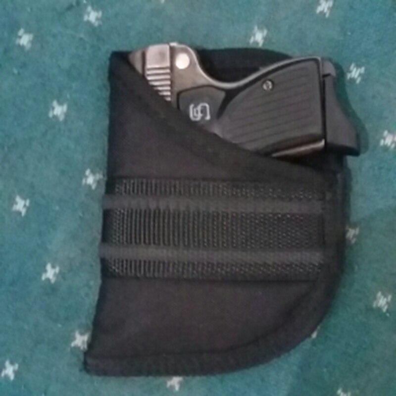 Pistola Funda de Pistola Táctica Para La Caza Al Aire Libre de Nylon negro para