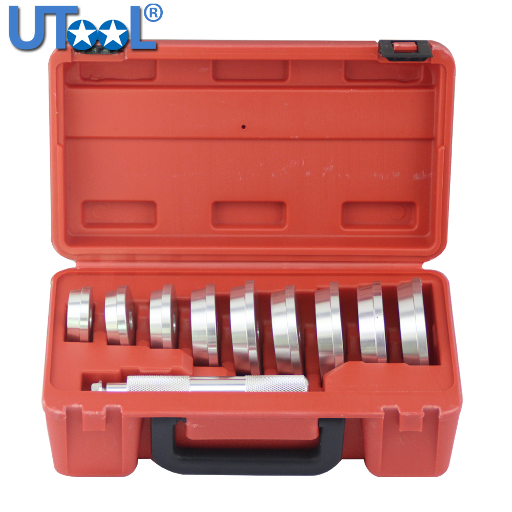 10 Pcs Bearing Race & Seal Driver Installer Set Remover Automotive Tools