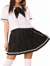 Free shipping Short Sleeves Sailor School Uniform Cosplay Costume