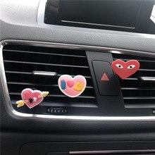 Lovely cartoon love car decorative perfume clip Interior decoration for lovers Car Love modeling air freshener