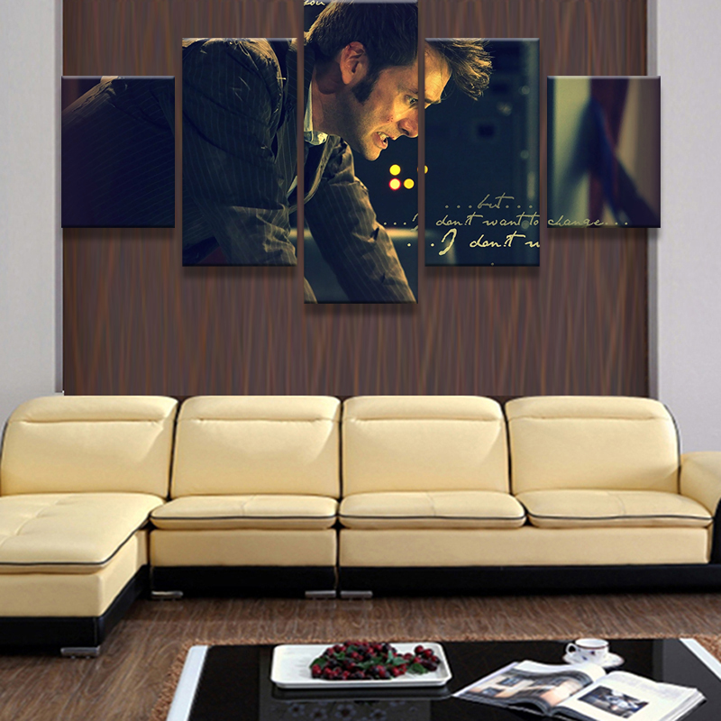 5 Panel Science Fiction Television Series Poster Home Wall Decor ...