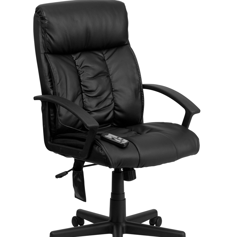Flash Furniture High Back Massaging Black Leather Executive Office Chair [863-BT-9578P-GG]