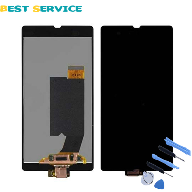 For Sony Xperia Z L36H L36i C6606 C6603 C6602 C660x C6601 LCD Display with Touch Screen Digitizer Assemly + Tool Free Shipping