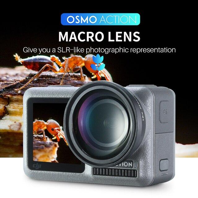 ULANZI OA 5 Makro Lens OA 6 Balıkgözü Lens DJI Osmo Eylem optik cam Lens Alüminyum Alaşım Lens Osmo Eylem Aksesuarları