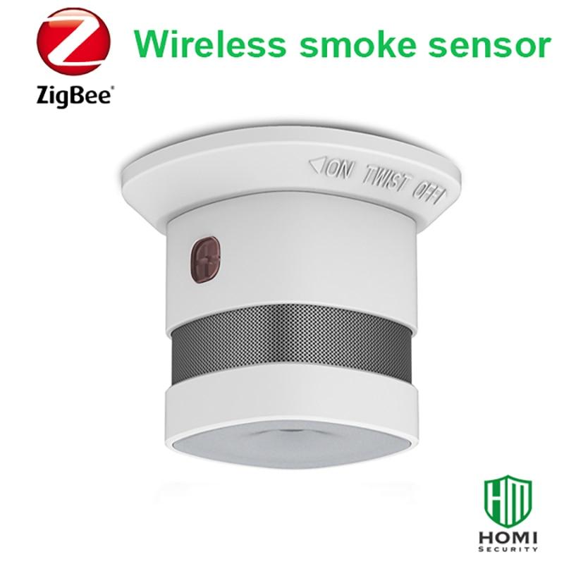 Wireless Smoke Detector Built-in 85dB Siren Battry Powered  Anti-fire Alarm  Smoke Sensor Zigbee Smart Home Safty