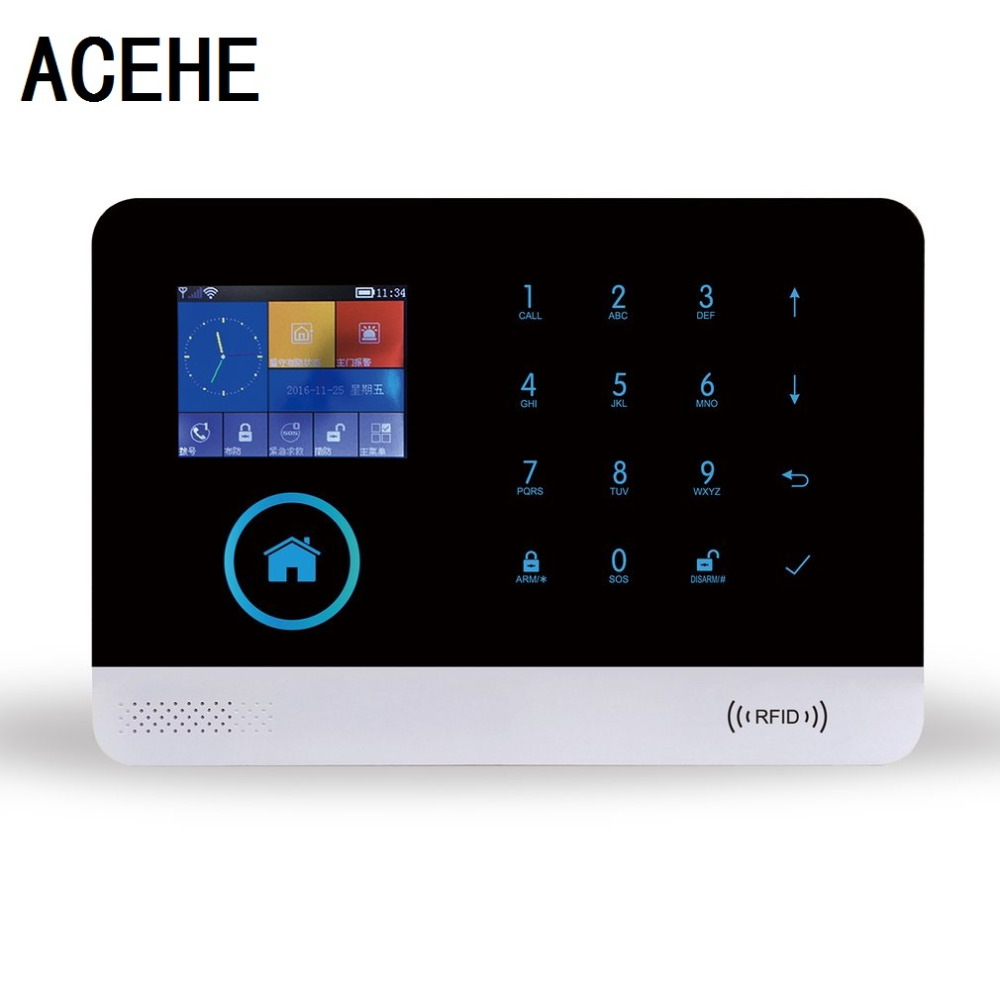 ACEHE Wireless GSM Autodial Security Burglar Intruder Alarm Systems Kits Infrared Motion Sensor Door Detector for House Office forecum 433mhz wireless magnetic door window sensor alarm detector for rolling door and roller shutter home burglar alarm system