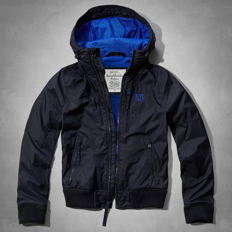 Fashion men hooded jacket coat thin collar windproof brand casual jacket men jacket coat