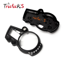 лучшая цена Triclicks Black Motorcycle Parts ABS Speedo Meter Gauge Tachometer Case Cover Motor Instrument For Yamaha YZF R1 2002-2009 New