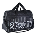 Waterproof  Black Men Gym Bag Big Capacity Sports Shoulder Bag Stripe Pattern Traveling Handbag Big Size
