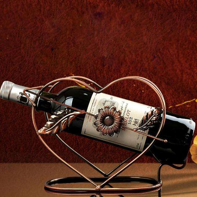 The Arrow Of Love Metal Wine Bottle Holder Wine Rack Bar Clubs Pub Wine  Holder Storage