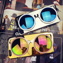 2015 New Luxury Fashion 3D Sun Glasses Plastic Material Electroplate Case Cover