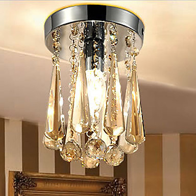 AC110V-220V Luxury LED Modern Crystal Ceiling Chandelier Light Lamp, Lustres De Cristal,Lustre De crystal  Free Shipping noosion modern led ceiling lamp for bedroom room black and white color with crystal plafon techo iluminacion lustre de plafond
