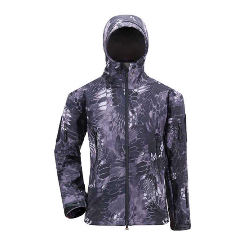 Военная Тактическая Военная Мужская куртка камуфляжная Мужская куртка и пальто зимняя водонепроницаемая ветровка из мягкой ткани размер S-3XL