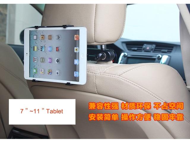 Soporte de coche Tablet Holder Grip Soporte Para Tablet Soportes Reposacabezas Ajustable universal para ipad tableta del teléfono móvil 7 a 11 pulgadas HL02