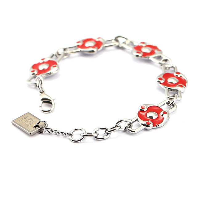 Naruto Sharingan logo Charm Bracelet Cosplay Bangle