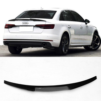 For Audi A4 B9 M4 style Carbon Fiber Rear Spoiler Wing 2016UP
