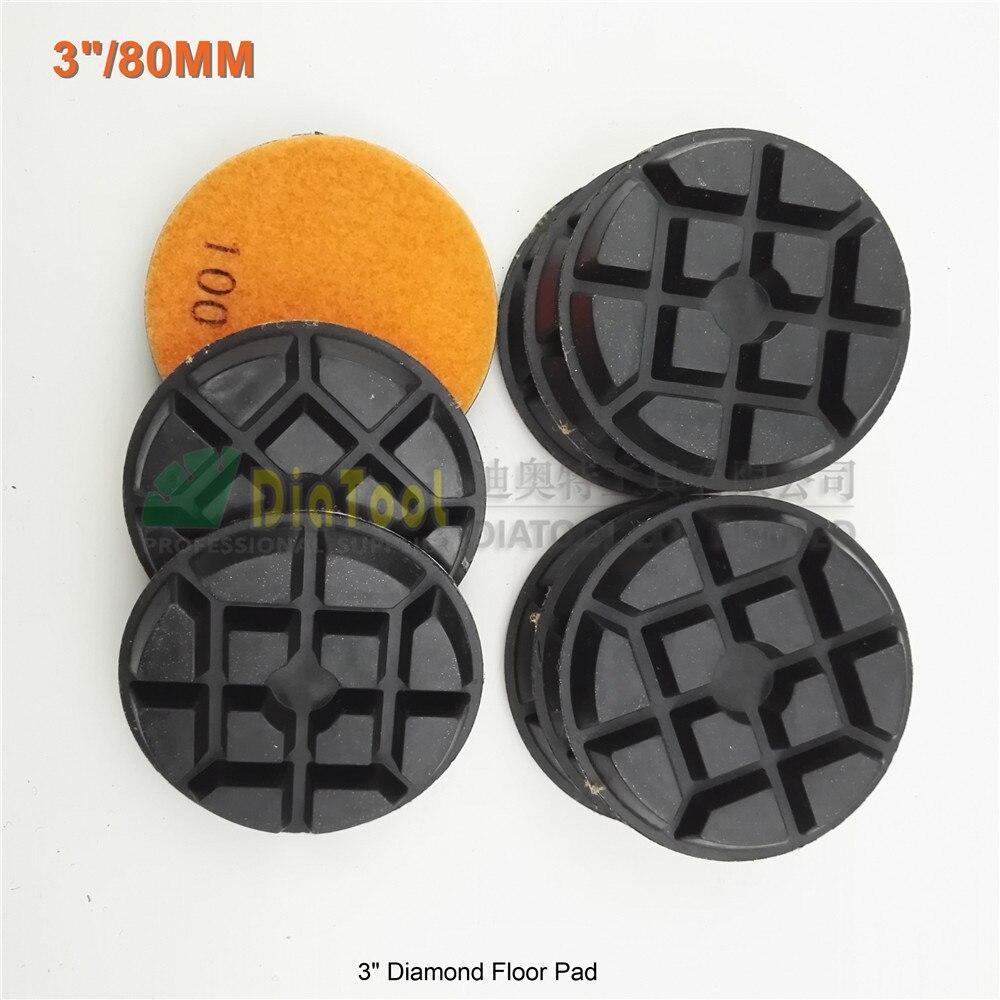 Disco de Lixa Polimento de Piso Shdiatool Chão Diamante 100 Sa622 3 Resina Bond Renovar Almofadas 9pcs 80mm
