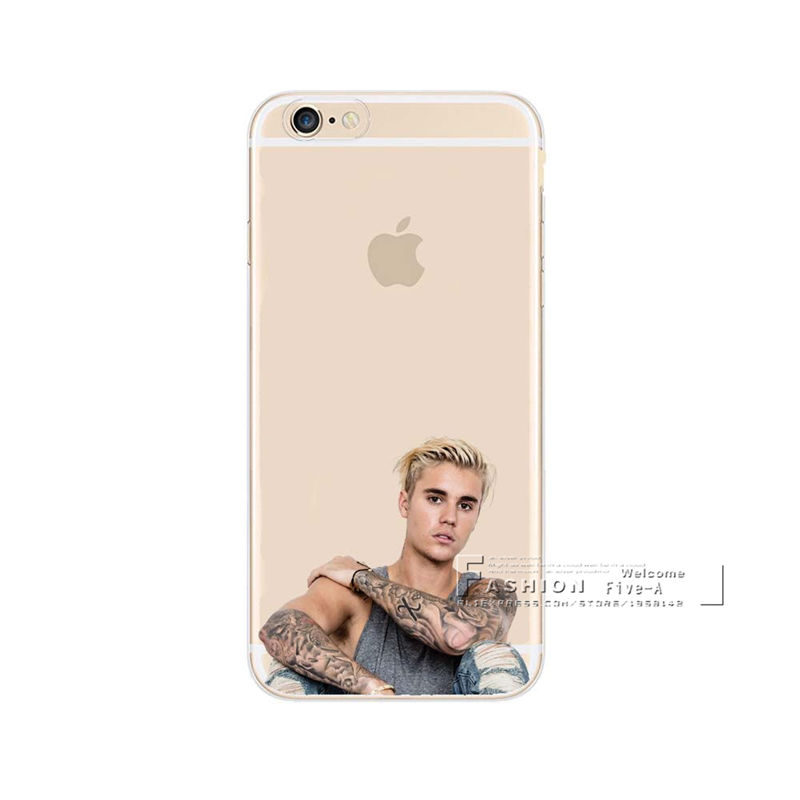 Super Star JUSTIN BIEBER Phone Cases For iPhone X SE 5 5S 6 6S 7 8 Plus  Transparent Plastic Back Cover Coque-in Fitted Cases from Cellphones ... a0307148f436