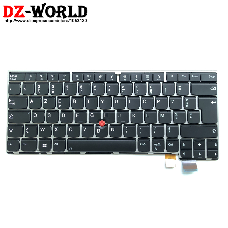 New/Orig FR French Backlit Keyboard AZERTY for Lenovo Thinkpad 13 2nd Gen T470S Backlight Clavier 01ER880 SN20M26466 01ER921New/Orig FR French Backlit Keyboard AZERTY for Lenovo Thinkpad 13 2nd Gen T470S Backlight Clavier 01ER880 SN20M26466 01ER921