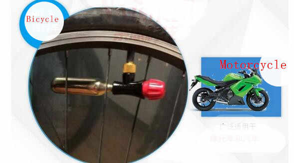 Sepeda Motor Ban Alat Perbaikan Kit 16G CO2 Cartridge Adaptor Pompa untuk Bersepeda MTB ROAD Sepeda Mini Portabel Udara Tick ban