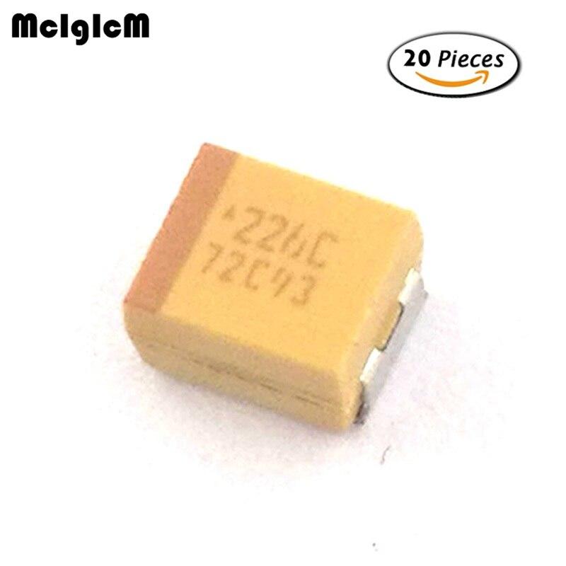 8 pieces 22uF 16V Dipped Tantalum Capacitors