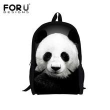 Forudesigns supreme anpassen rucksack niedlichen tier panda druck kinder schule rucksack teenager jungen mädchen rucksack buch tasche