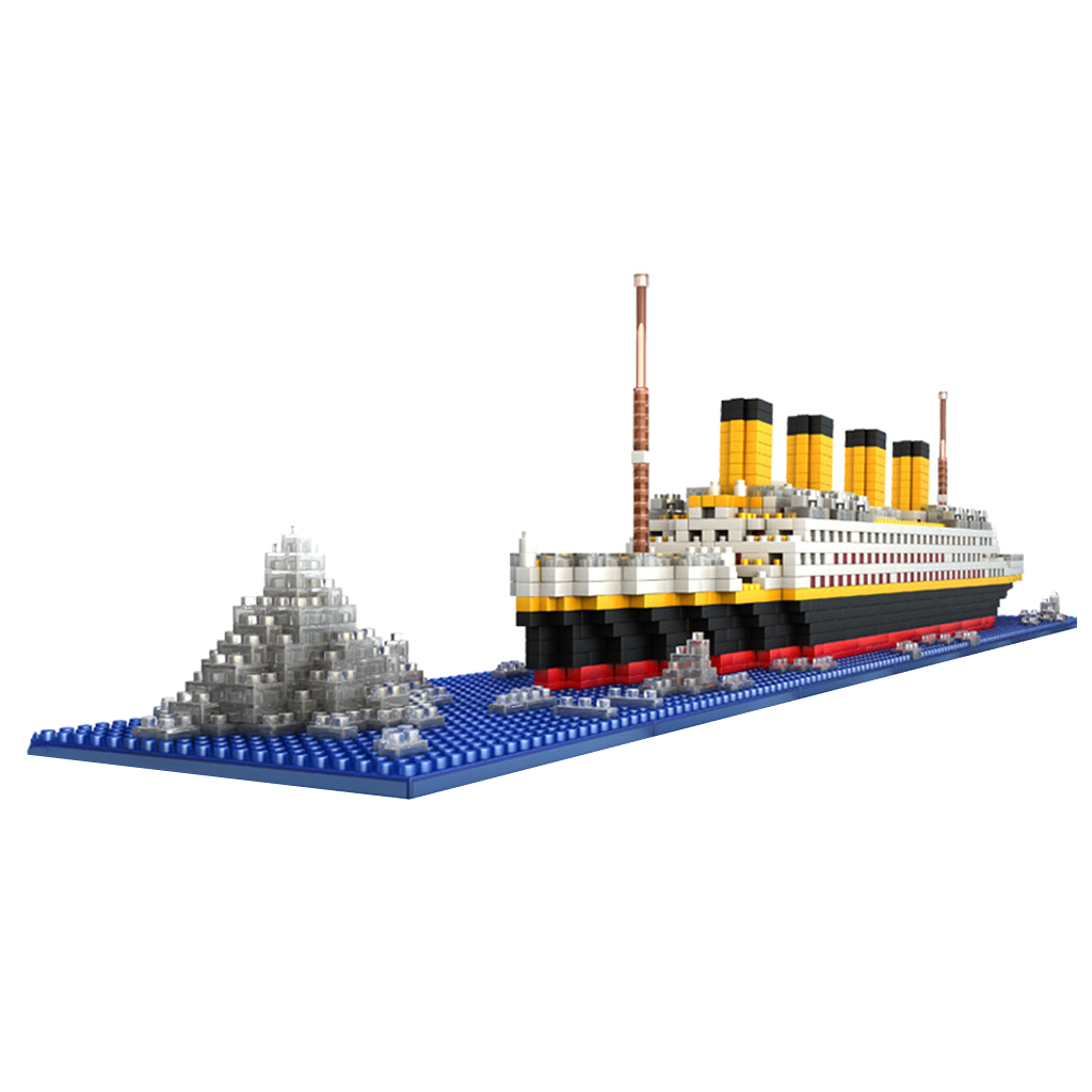 Wholesale Unisex Toys 1860pcs Grand Titanic Building Blocks Kit Ship Model Assembly Block Kids Adult Toy New Year Birthday Gift 2017 wholesale new army block educational military war block kids tank helicopter model building blocks toy best gift for kids