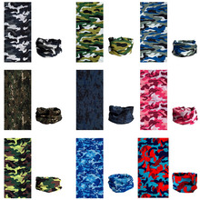 Cycling Scarf Camo Neck Warmer Bandana Camouflage Headwear Outdoor Climbing Hiking Face Mask Tube Tactical Military Head Scarves