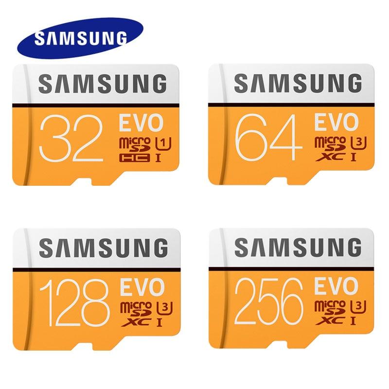 2017 SAMSUNG MicroSD Card EVO+ 64GB 16GB EVO Plus Micro Sd Class10 32GB MicroSDHC/MicroSDXC Card 128G UHS-I  256GB Memory Card