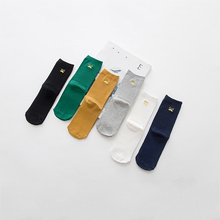 Combed Cotton Fashion Hip Hop Women Socks Trend Wild Harajuku Happy Funny Sokken Solid Color White Black For Ladies