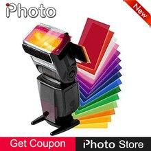 Universal Multi Color Softbox Difusor de Iluminação Gel Pop Up Filtro para A Maioria de Flash YongNuo Godox Meike Triopo Viltrox Flash Meike