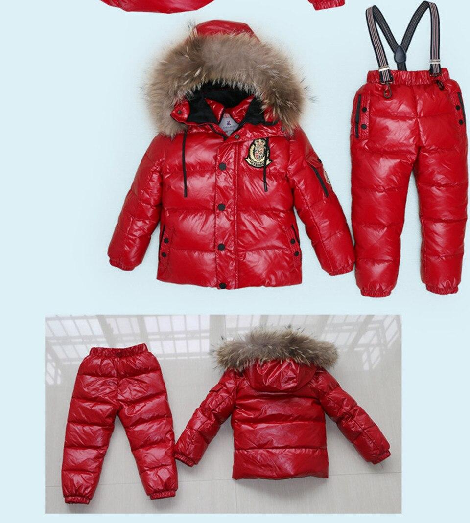 d8b0c85a474a7 30 degrés russie hiver Ski combinaison enfants vêtements garçons ...