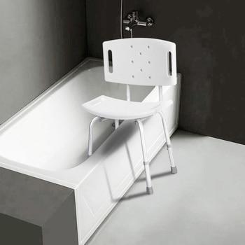 2 in 1 Design Medical Shower Chair Stool Detachable Backrest FDA-approved Adjustable Height Bathtub Bench Bath Seat for Shower
