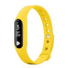 Спортивные часы Smart Bluetooth 4.0 отслеживания активности сна ЧСС подключен Смартфон Android и IOS Apple IPhone (желтый)