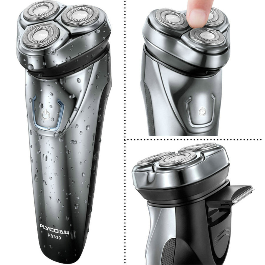 FLYCO Electric Shaver For Men Shaving Razor 1 Hour Quick Charge Wet & Dry Use Electric Razor with Beard Trimmer FS337 FS339