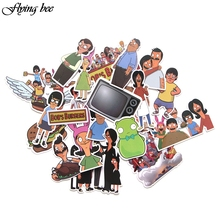 Flyingbee 21 Pcs Bobs Burgers Cartoons Stickers Kids Toy Sticker for DIY Luggage Laptop Wall Car Phone Waterproof X0043