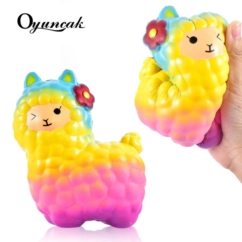 Oyuncak Squishy Slow Rising Alpaca Antistress Sheep Squishe Toys Squishy Stress Relief Toys Girls Gags Practical Joke Fun Gadget