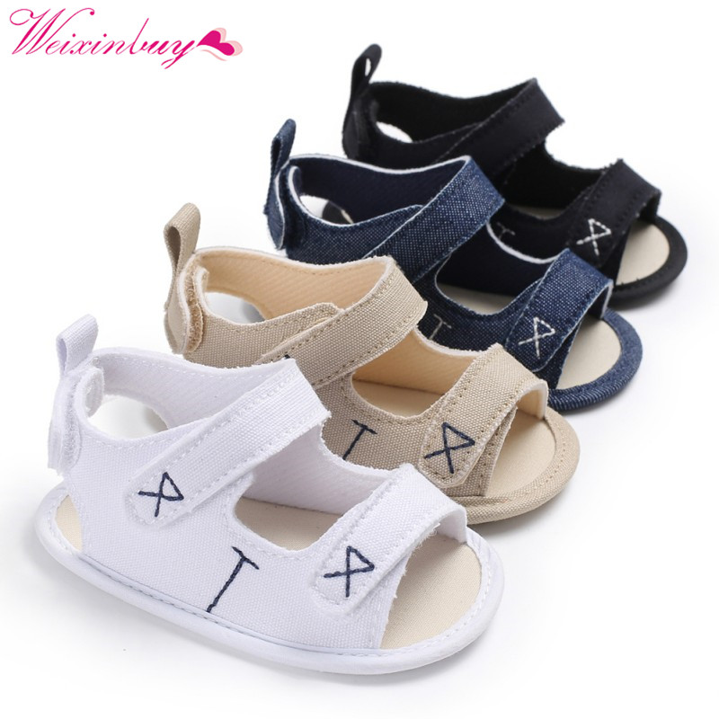 Baby Sandals Newborn Baby Boy Shoes Classic Canvas Fashion Baby Boy Sandals Breathable Casual Baby Boy Sandals