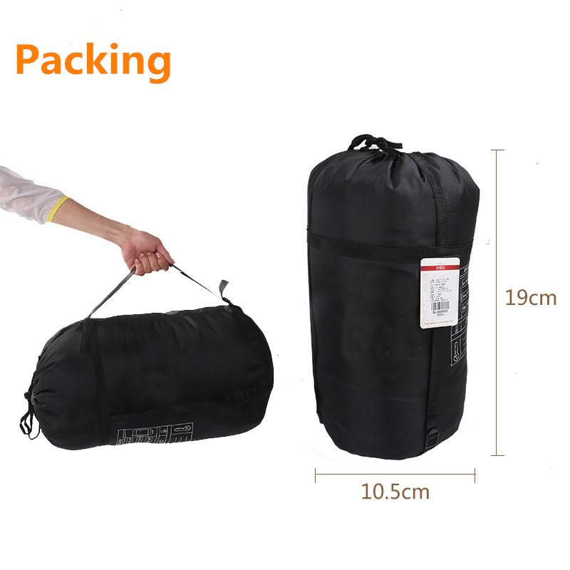 Sleeping bag packing