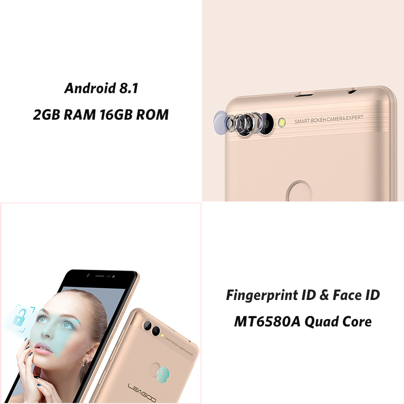 """Image 5 - LEAGOO POWER 2 Mobile Phone Android 8.1 5.0""""HD IPS 2GB RAM 16GB ROM MT6580A Quad Core Dual Camera Fingerprint ID 3G Smartphone-in Cellphones from Cellphones & Telecommunications"""