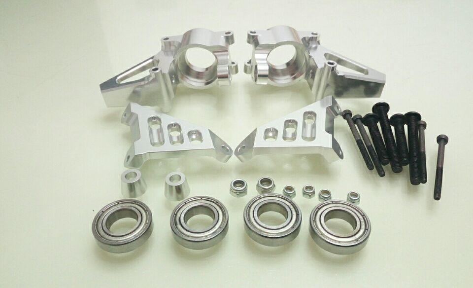1/5 Baja CNC Alloy front hub carrier Set Baja Front Knuckle arm bearing set alloy front hub carrier for 1 5 hpi baja 5b 5t 5sc