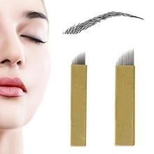 New arrival! 50Pcs 12/14 Pins Permanent Makeup Eyebrow Tattoo Blades Microblading Needles