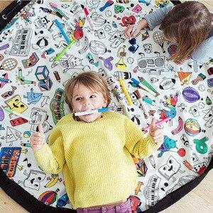 INS детские игровые коврики для детей, сумка для хранения граффити DIY, игровой коврик для мальчиков и девочек, детская развивающая игрушка